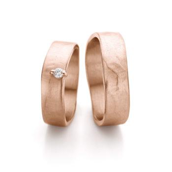 Wedding Rings N° 11-2_1 red gold diamond