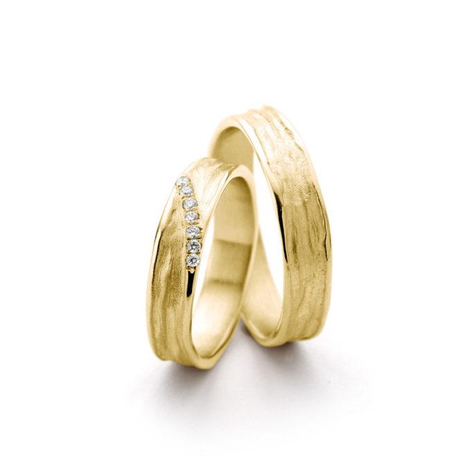 Witgouden trouwringen N° 22_7 geel goud