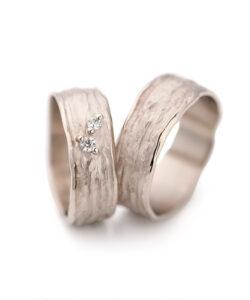 White gold wedding ring N° 28