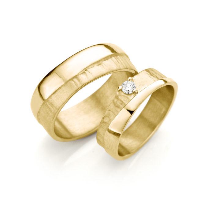 Geel gouden trouwringen N° 2_1