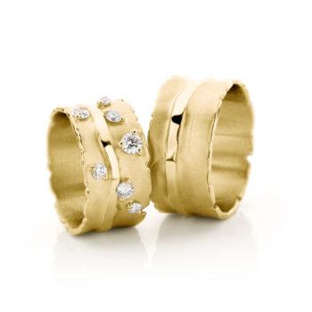 Witgouden trouwringen N° 32_7 geel goud