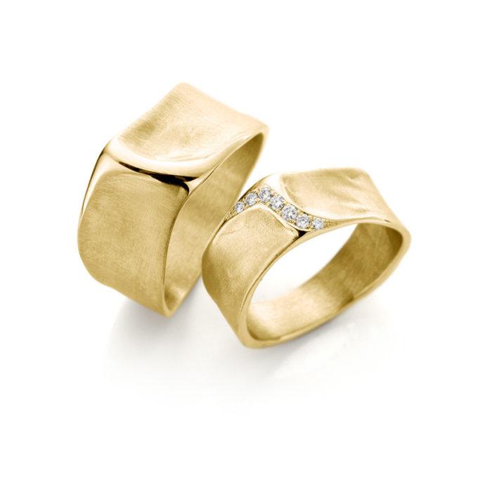 Witgouden trouwringen N° 34_7 geel goud