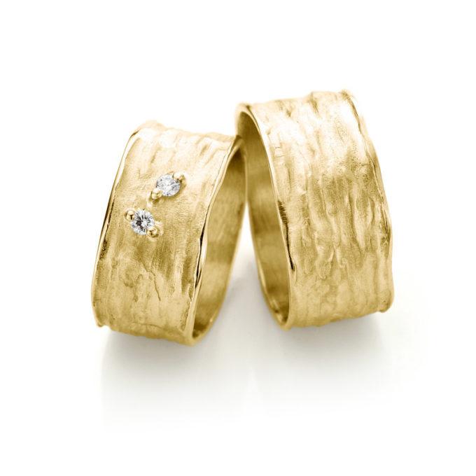 Witgouden trouwringen N° 36 geel goud