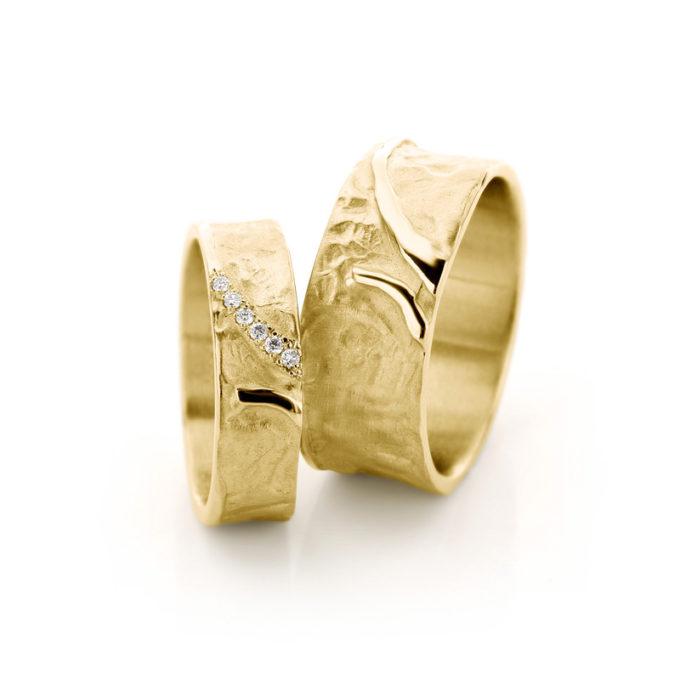 Witgouden trouwringen N° 37 geel goud