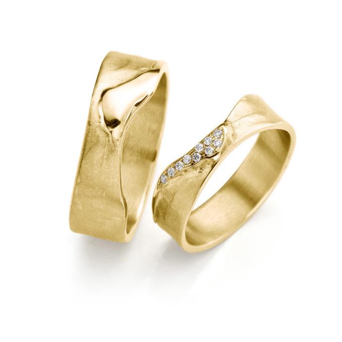 Geel gouden trouwringen N° 3_10