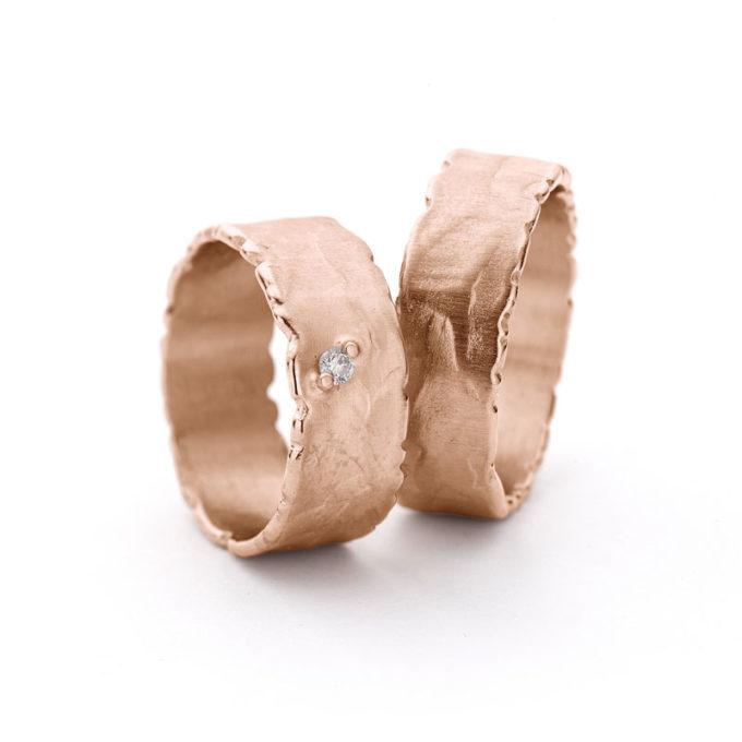 Wedding Rings N° 41_1 red gold diamonds