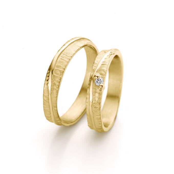 Witgouden trouwringen N° 047_1 geel goud