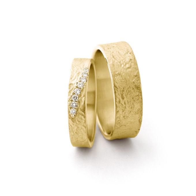 Witgouden trouwringen N° 049 geel goud