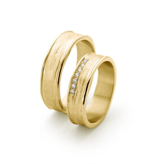 Witgouden trouwringen N° 9_7 geel goud