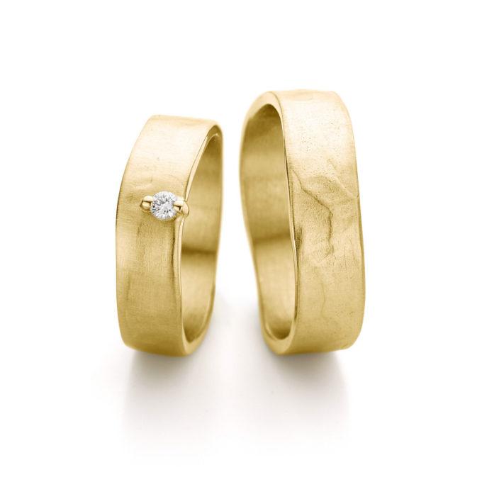 Witgouden trouwringen N° 11_2_1 geel goud