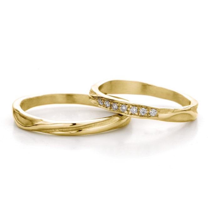 Witgouden trouwringen N° 45_7 geel goud