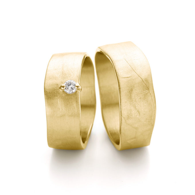 Wedding rings N° 11-1_1 yellow gold