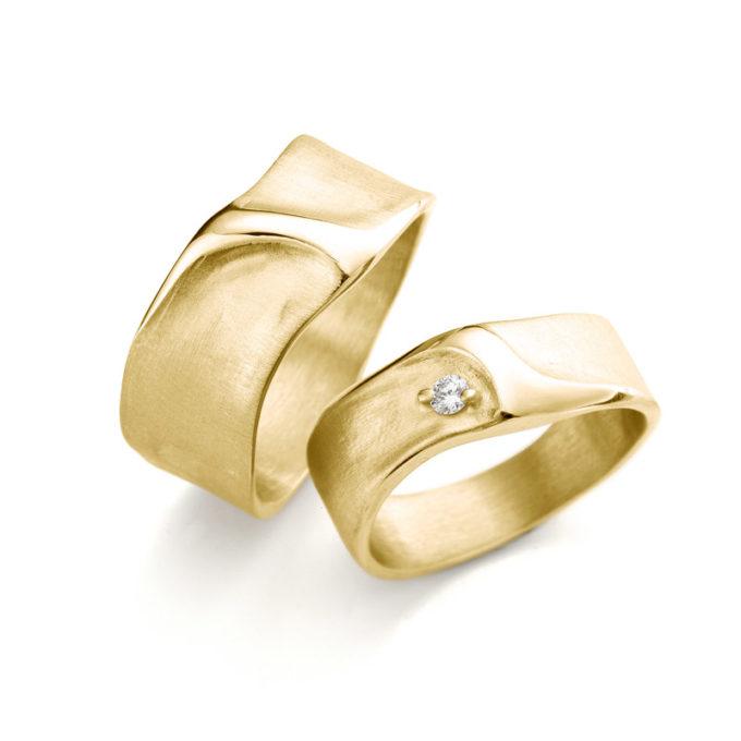 Witgouden trouwringen N° 34_1 geel goud