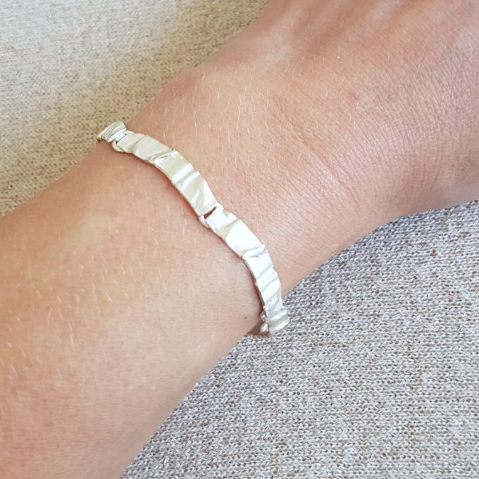 Zilveren armband N° 48 Model Foto