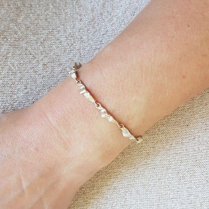 Zilveren armband N° 144 Model Foto