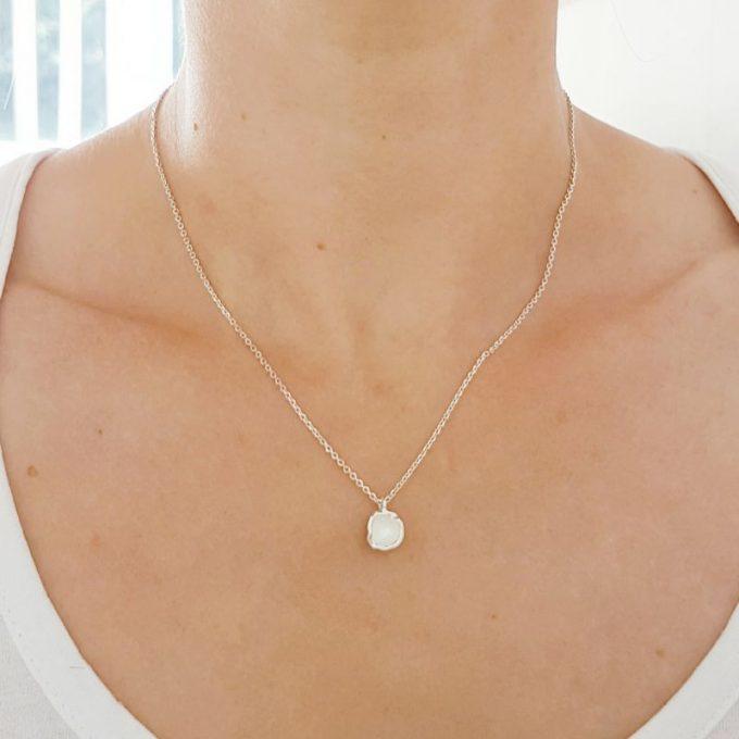 Zilveren halsketting N° 68 model foto