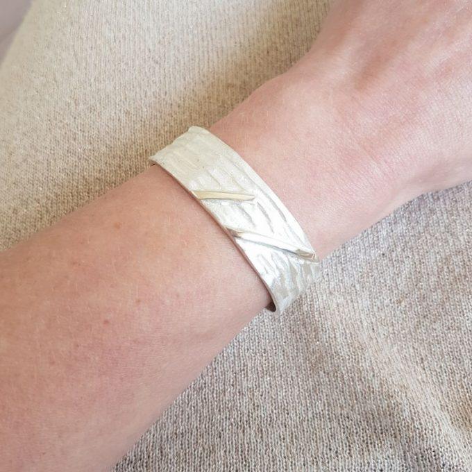 Zilveren armband N° 013 Modelfoto