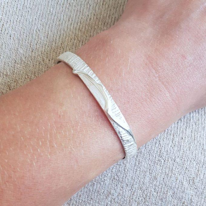 Zilveren armband N° 015 Model Foto