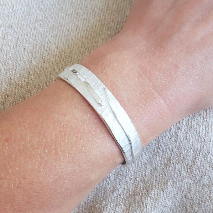 Zilveren armband N° 016 Model Foto