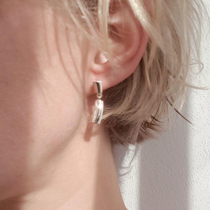 Silver earrings N° 12 model