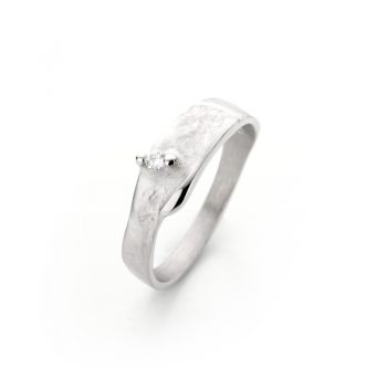 Silver ring with diamond N° 017 SET