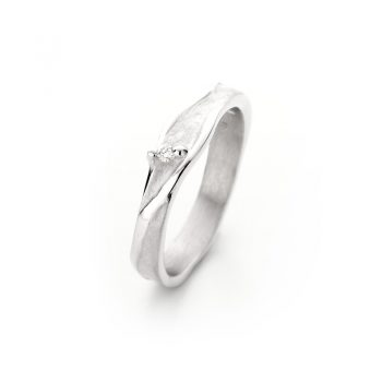 Zilveren ring met diamant N° 023 SET