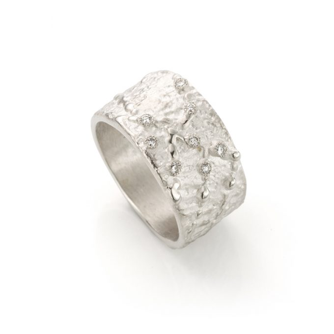 Silver ring with diamond N° 107 SET