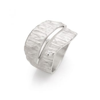 Silver ring with diamonds N° 018