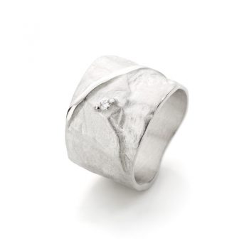 Silver ring with diamonds N° 019 SET