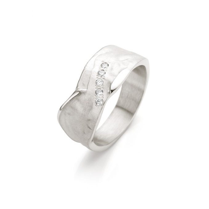 Silver ring with diamonds N° 020 SET