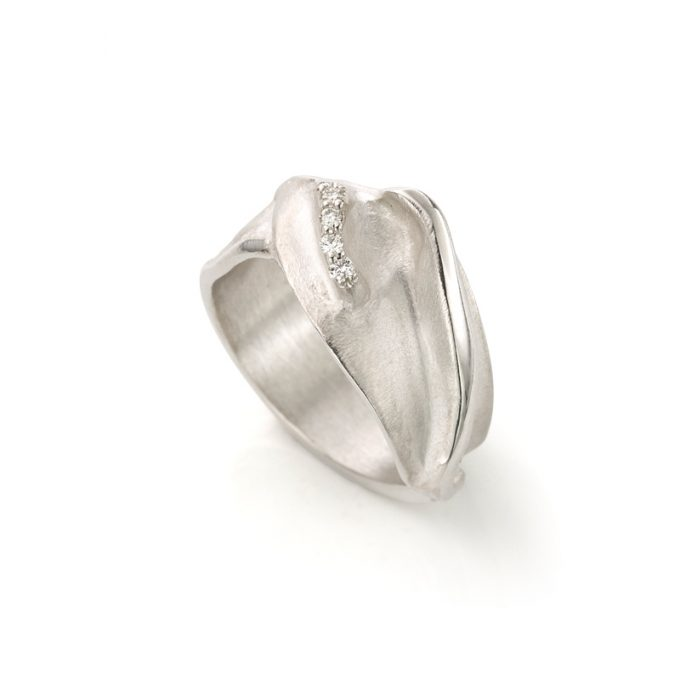 Silver ring with diamond N° 215 SET