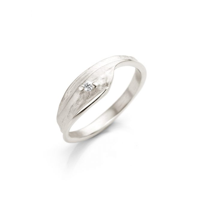 Silver ring with diamond N° 025 SET