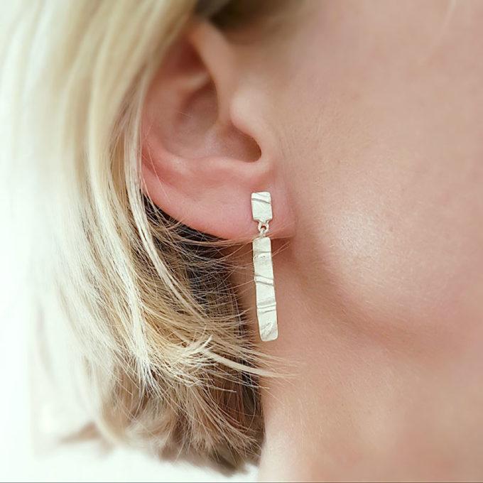 Silver dangle earrings N° 41 model