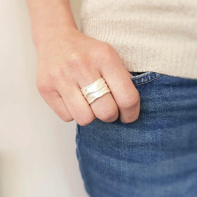 Zilveren ring N° 017 model
