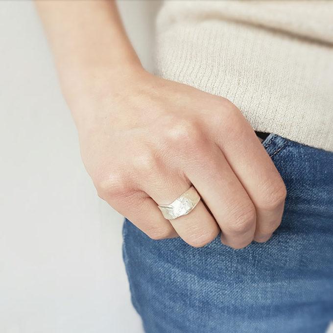 Zilveren ring N° 020 model