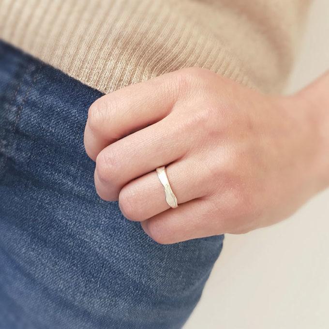 Silver ring N° 023 model