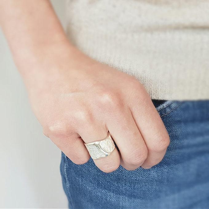 Zilveren ring N° 024 STR model