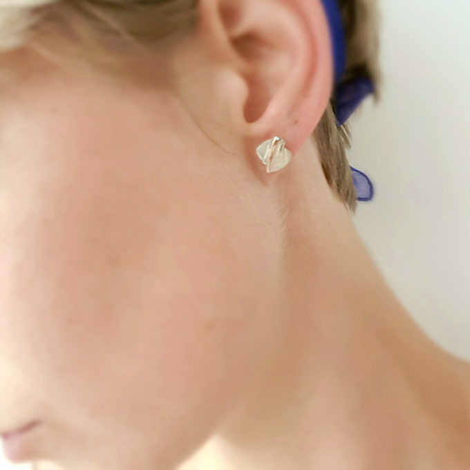 Silver stud earrings N° 38 model