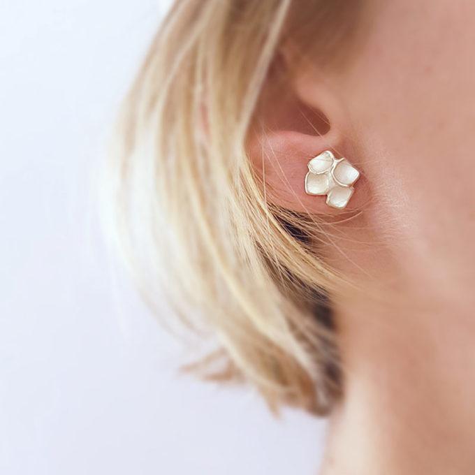 Zilveren oorbellen N° 52 model