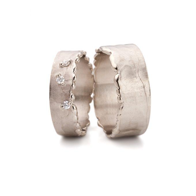 White gold wedding rings N° 10