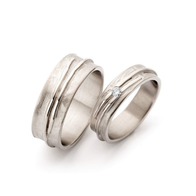 White gold wedding rings N° 14_1