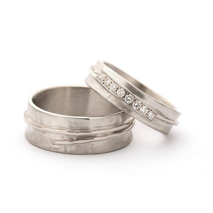 White gold wedding rings N° 14_8