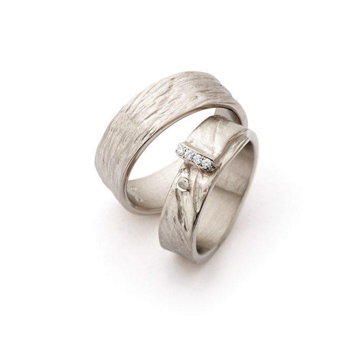 White gold wedding rings N° 16