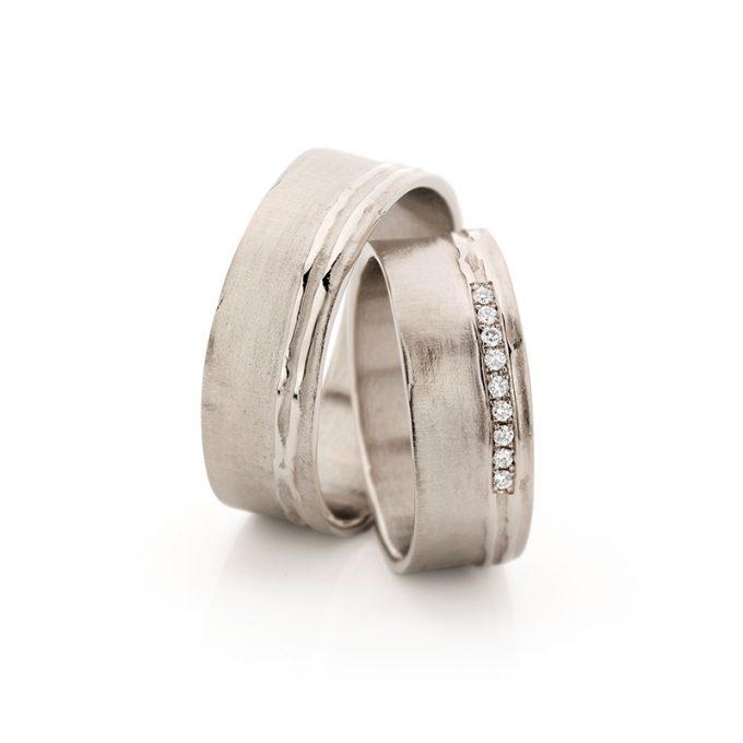 White gold wedding rings N° 18