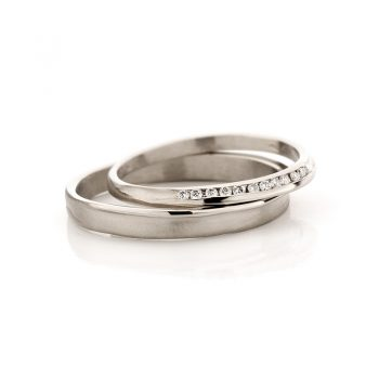White gold wedding rings N° 40_12