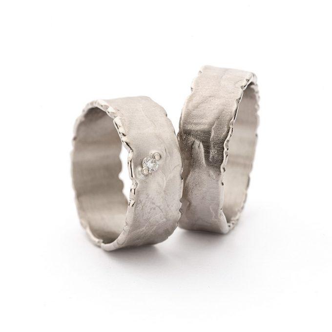 White gold wedding rings N° 41