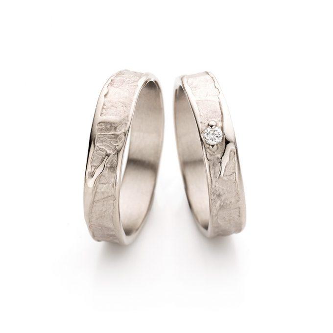 White gold wedding ring N° 046