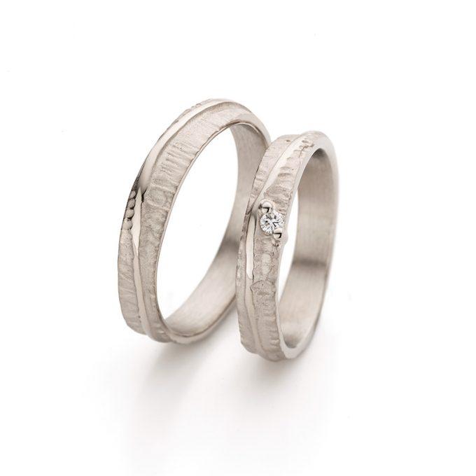 White gold wedding ring N° 047