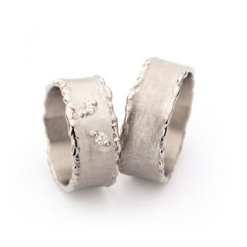 White gold wedding rings N° 50_2