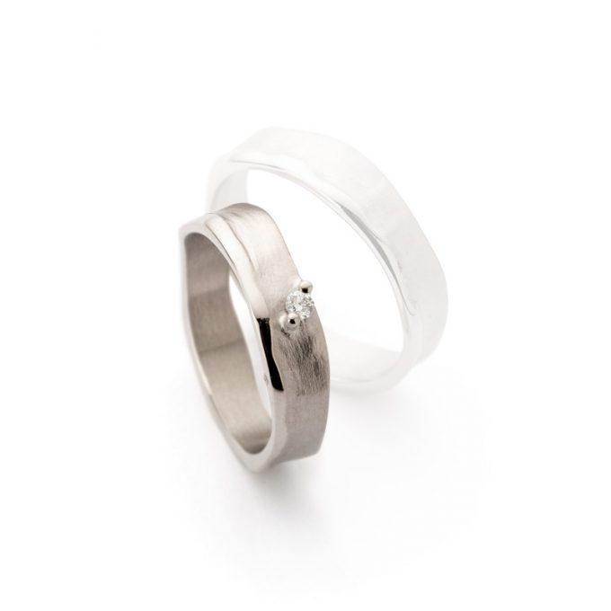 White gold weddingring N° 51_1 lady's ring